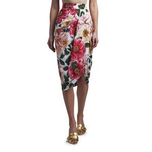 Dolce & Gabbana Floral Print Midi Skirt - Size: 46 IT (12 US)