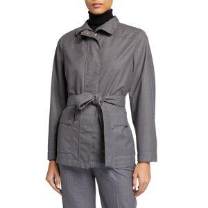 Agnona Wool Showerproof Field Jacket w/ Detachable Vest - Size: 46 IT (10 US)