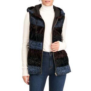 Gorski Reversible Horizontal Lamb Hooded Vest - Size: Small