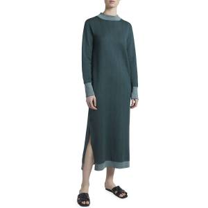 Maison Ullens Reversible Long-Sleeve Travel Dress - Size: Large
