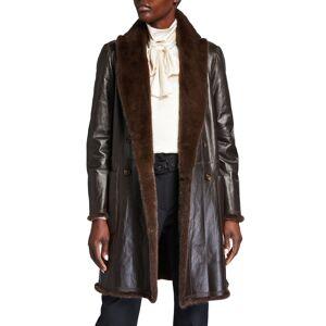 Brunello Cucinelli Reversible Mink/Leather Coat - Size: 46 IT (10 US)