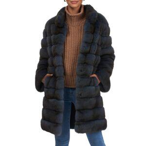 Gorski Short Horizontal Russian Sable Coat - Size: Medium