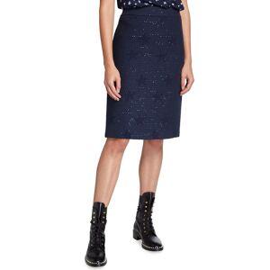 Maison Common Wool-Blend Star Jacquard Tweed Skirt  - BLUE - Gender: female - Size: 38 DE (8 US)