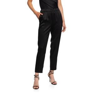 Escada Cropped Satin Pull-On Pants - Size: 44 DE (14 US)