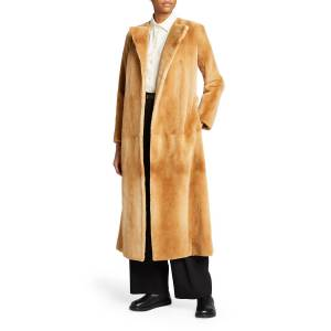 THE ROW Long Mink Fur Coat - Size: Medium
