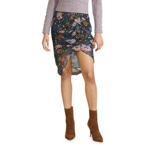 Veronica Beard Hazel Floral-Print Ruffle Skirt - Size: 6