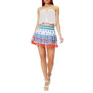 Ramy Brook Behati Printed Tiered Mini Skirt - Size: Large