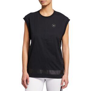 adidas by Stella McCartney Crewneck Logo Muscle Tank - Size: Small