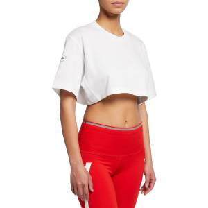 adidas by Stella McCartney Future Playground Cropped Active Tee - Size: Small