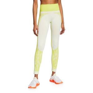adidas by Stella McCartney High-Rise Printed Ankle Leggings - Size: Large
