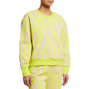 adidas by Stella McCartney Animal-Print Drop-Shoulder Sweatshirt - Size: Small