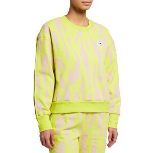 adidas by Stella McCartney Animal-Print Drop-Shoulder Sweatshirt - Size: Small