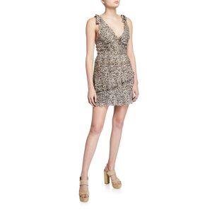 La Maison Talulah Superbloom Leopard-Print Ruffle Dress  - ANIMAL PRINT - Gender: female - Size: Small