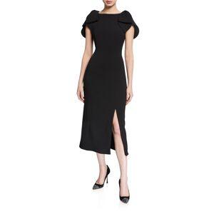 Shoshanna Galina Crepe Tulip Sleeve Sheath Dress