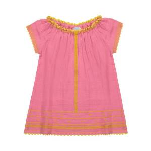 Mer St Barth Girl's Hadley Embroidered Off-the-Shoulder Dress, Size 2-10 - Size: 2