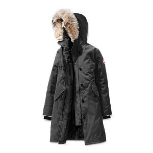Canada Goose Youth Brittania Parka with Removable Fur Trim, XS-XL  - GRAPHITE - Gender: female - Size: Small