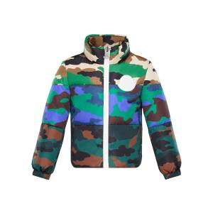 Moncler Marchaud Mixed Camo-Print Puffer Jacket, Size 8-14 - Size: 12