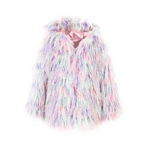 Fabulous Furs Faux Fur Hooded Coat, Size XXS-L  - COTTON CANDY - Gender: female - Size: Extra Small