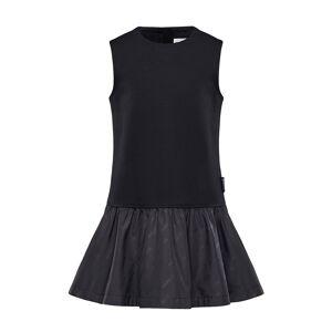 Moncler Fit-&-Flare Logo Dress, Size 4-6  - BLACK - Gender: female - Size: 6