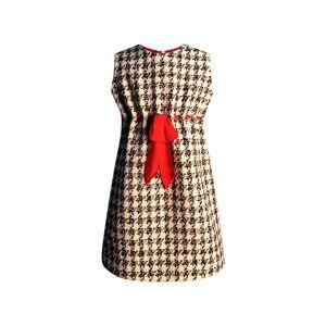 Helena Girl's Houndstooth Sleeveless Belted Dress, Size 7-14