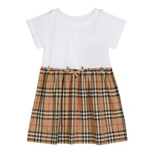 Burberry Girl's Rhonda Jersey & Check Poplin Dress, Size 3-14