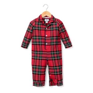 Petite Plume Imperial Tartan Plaid Pajama Coverall, Size 0-24 Months  - PLAID - Gender: male - Size: 18-24 Months