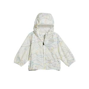 The North Face Girl's Flurry Wind-Resistant Hooded Jacket, Size 6-24 Months  - WHITE - Gender: female - Size: 24 Months