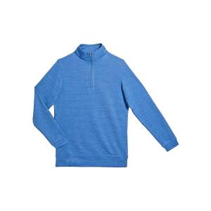 Peter Millar Boy's Crown Sport Second Layer Quarter-Zip Pullover, Size XXS-XL  - BLUE - Gender: male - Size: Large