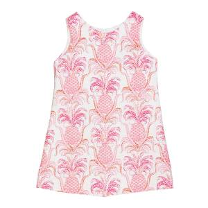 Susanne Lively Girl's Pineapple Sleeveless A-Line Dress, Size 12M-3  - PINK - Gender: female - Size: 12 Months