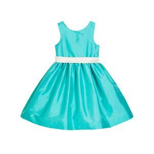 Susanne Lively Girl's Sleeveless Taffeta Dress w/ Sash, Size 4-6X  - BLUE - Gender: female - Size: 5