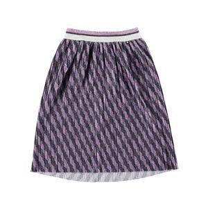 Molo Girl's Bailini Glitter Stripe Pleated Skirt, Size 3T-14  - PURPLE - Gender: female - Size: 9-10