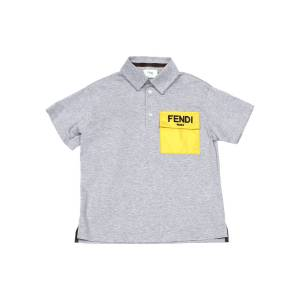 Fendi Boy's Contrast Logo Pocket Polo Shirt, Size 8-14 - Size: 8