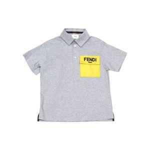 Fendi Boy's Contrast Logo Pocket Polo Shirt, Size 8-14 - Size: 14
