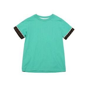 Fendi Boy's Logo Solid Cotton Short-Sleeve Shirt, Size 8-14 - Size: 14