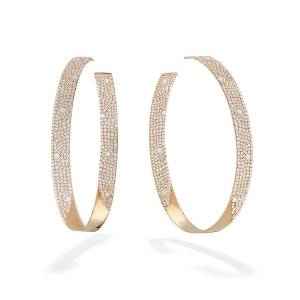 LANA 14k Vanity Inside-Outside Diamond Hoop Earrings