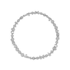 Sydney Evan 15th Anniversary Diamond Necklace w/ 14k White Gold