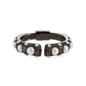 M.C.L. by Matthew Campbell Laurenza Black Spinel Freshwater Pearl Hinge Bracelet