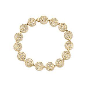 Sydney Evan 14K Yellow Gold & Diamond Happy Face Eternity Bracelet