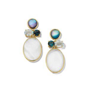 Ippolita 18K Rock Candy Luce 4-Stone Earrings in Blu Notte