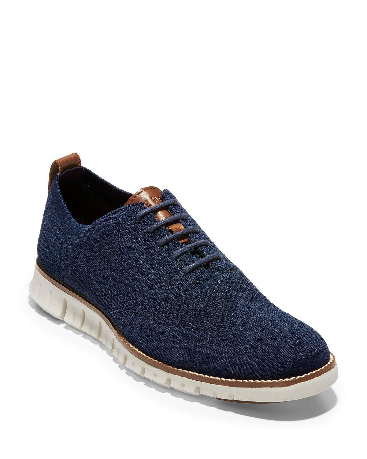 Cole Haan Men's ZeroGrand Knit Wing-Tip Oxfords - Size: 10.5D