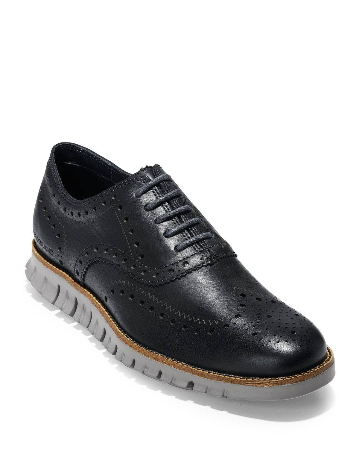 Cole Haan Men's ZeroGrand Leather Wing-Tip Oxfords - Size: 7.5D