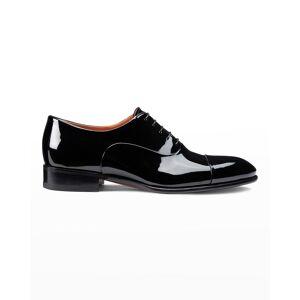 Santoni Men's Isaac Patent Leather Lace-Up Shoes - Size: 10D