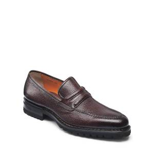 Santoni Men's Nia Pebbled Leather Penny Loafers - Size: 8D