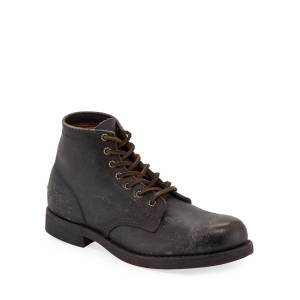 Frye Men's Prison Stone-Washed Leather Boots - Size: 9.5D