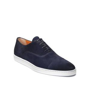 Santoni Men's Durbin Suede Cap-Toe Sneakers - Size: 8.5D