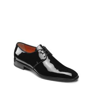 Santoni Men's Isogram Patent Leather Derby Shoes - Size: 8D