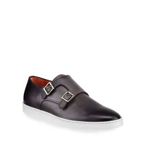 Santoni Men's Freemont G8 Double-Monk Leather Sneakers - Size: 10.5D