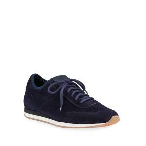 Santoni Men's Pause Stretch-Suede Sneakers - Size: 9D