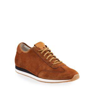 Santoni Men's Pause Soft Suede Low-Top Sneakers - Size: 9D