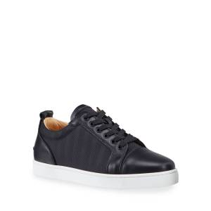 Christian Louboutin Men's Louis Junior Orlato Tonal Stripe Sneakers - Size: 50 EU (17D US)